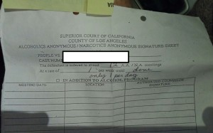 AA Signature Sheet